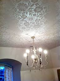 view in gallery lace ceiling treatment lit up with chandelier
