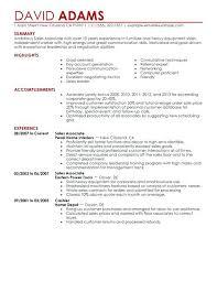 Resume Sales Associate Sales Associate Resume Sample Template Good Custom Sales Associate Skills Resume