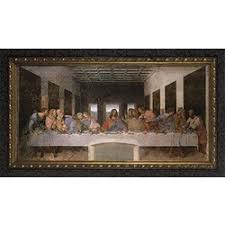 the last supper w dark ornate frame on large last supper wall art with last supper art prints paintings figures the catholic company