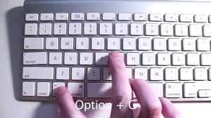 How To Type Copyright Symbol With A Mac Youtube