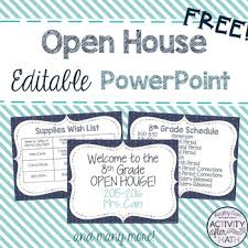 Open House Powerpoint Open House Editable Powerpoint Freebie
