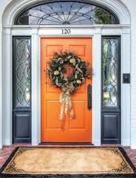 Orange front door Paint Clemsondoor Greenville Journal Behind The Orange Door Greenville Journal