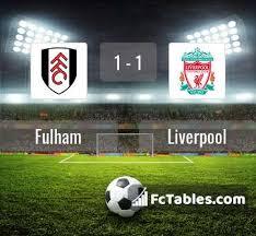 Der ägypter schießt die kugel halblinks und flach in die maschen. Fulham Vs Liverpool H2h 13 Dec 2020 Head To Head Stats Prediction