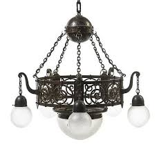 an arts and crafts hammered copper and iron chandelier diameter 34 inches by leslie hindman auctioneers bidsquare