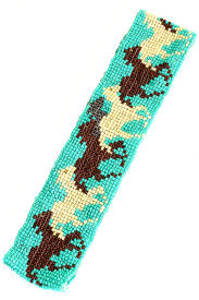 Seed Bead Patterns Interesting Seed Bead Horse Pattern Headband Hair Accessories