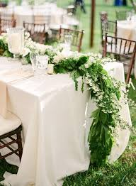 DIY Fresh Floral Garland. Green And White Wedding FlowersFlower Runner ...