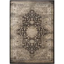 safavieh vintage bijar black ivory indoor distressed area rug common 8 x 11
