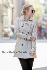 size xs nwt zara cotton trenchcoat double ted trench coat jacket blazer 518046711014
