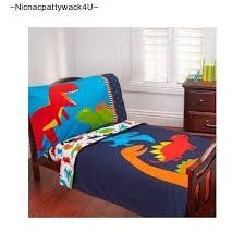 4 piece toddler bed sheet comforter set