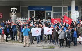 Resultado de imagen para huelga en supermercado lider