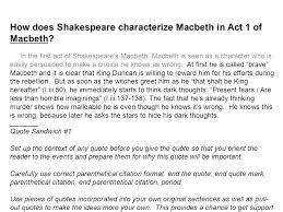 macbeth essay quotes co macbeth essay quotes