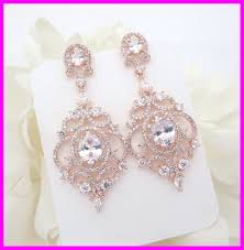 wedding earrings rhinestone chandelier earrings wedding appealing rose gold bridal earrings chandelier wedding pict for rhinestone