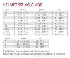 Helmet Size Chart Scooter King Of Cali Helmets And Accessories
