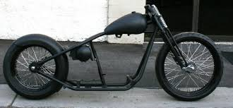 bobber rolling chassis with 23 diameter front rim and 18 diameter