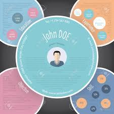 Kleurrijke Cirkels Hervatten Curriculum Vitae Cv Template Ontwerp