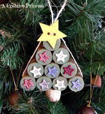 wine cork Christmas tree ornament