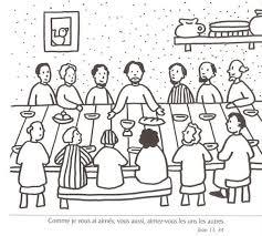 Coloriage Le Repas De Pâques Preparation For Passover Matthew