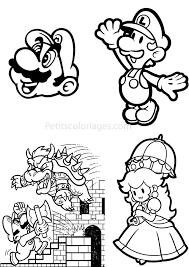 Coloriage Mario Anniversaire De Peach A Imprimer