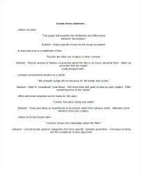 Argumentative Thesis Statement Template Marvie Co