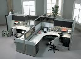 modern office cubicle. 5, Quad Cubicle Modern Office E