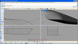 Rhino Boat Design Software Rhino3d Demo Ship Hull Surface Control Point Modeling