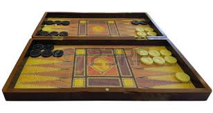 Old Wooden Board Games Game Field In A Backgammon With Dice And Checkers Game Concept 55