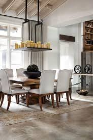 cal dining room lighting white french country wooden dining table rectangle flower pattern rug oak wood