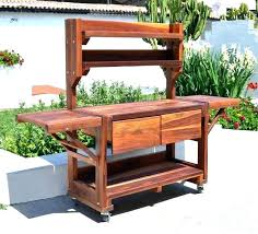 potting bench with storage excellent table c coast outdoor wood work camping kitchen worktop tab rogue stand up work bench outdoor