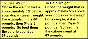 Calorie Chart By Weight Heiro For Dogs