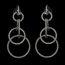 diamond chandelier earrings white gold robin woolard whitegoldchandellerearrings black suede knee high boots nameplate jewelry necklace