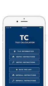 image showing that you can access key weblinks to help use the tile calculator iphone app