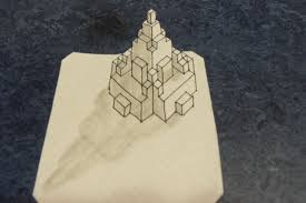 Graph Paper Draw 3d Buildings On Grid Paper 6 Steps With Pictures