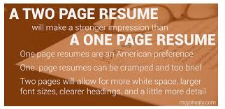A Two Page Resume Is Better Than One Mojohealy Learning Careers