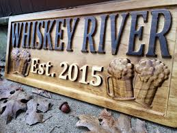 Small Picture Personalized Bar Sign Carved Wood Sign Custom Wood Sign