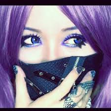 cyber gothic anime make up tutorial you