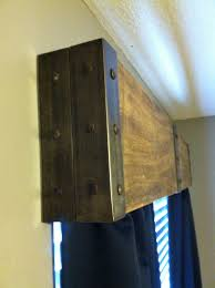 Diy Wood Cornice Industrial Wooden Valance From Life We Live 4 Kids Pinterest