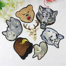 Wolf <b>Dog Tiger</b> Leopard Deer Head Embroidered <b>Patches</b> Lot ...