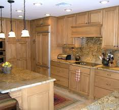Kitchen With Light Brown Cabinets