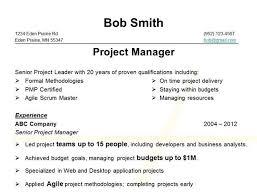 job resume qualification examples scrum master resume