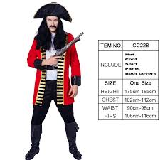 Purim Mens Pirate Captain Costume Cosplay Mens Pirate Jacket Halloween Party Role Play Pirate Costumes For Male Group Adult Halloween Costumes