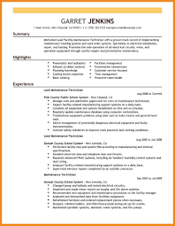 Maintenance Resume Art Resume Examples