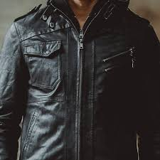 men s pigskin motorcycle removable hooded real leather jackets winter coat male warm genuine leather jacket top s