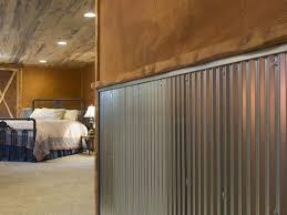 image of design corrugated metal panels for interior walls