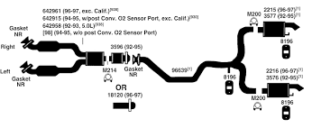 ford thunderbird exhaust diagram from best value auto parts ford thunderbird exhaust diagram