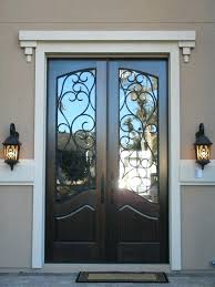 french door inserts decoration inspiring black double entry doors with wrought iron glass inserts and white