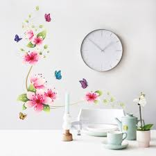 Small Picture Aliexpresscom Buy 5 design small sakura flower wall stickers