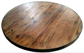 round reclaimed wood tabletops import restaurant