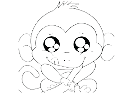 Free Monkey Coloring Pages Koshigayainfo