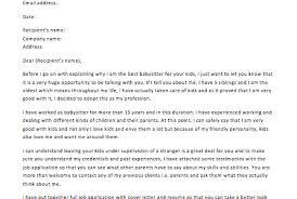 Printable Cover Letter Resume Template Babysitter Resume Cover