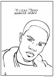 Famous People Coloring Pages Kanye West 01